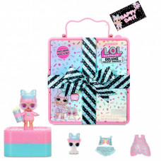L.O.L. Surprise! Deluxe Present Surprise with Limited Edition Miss Par-tay Doll and Pet, Pink