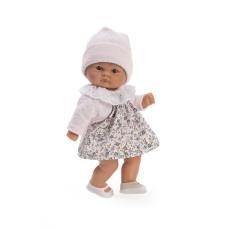 "Lelle Asi ""Bomboncin"" kleitā ar ziedu apdruku un rozā jaku 20 cm"