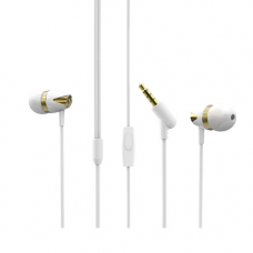 BOROFONE BM13 Coolmelody universālās austiņas ar mikrofonu (balts-zelts)