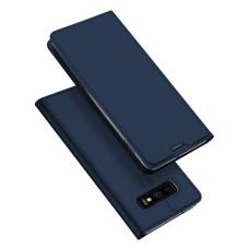 Dux Ducis Skin Pro sāniski atverams aizmugures māciņš no mākslīgā āda priekš Samsung Galaxy S10e (zils)
